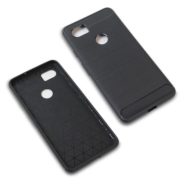 Cruzerlite Carbon Fiber Shock Absorption Slim Cover for Pixel 2 XL