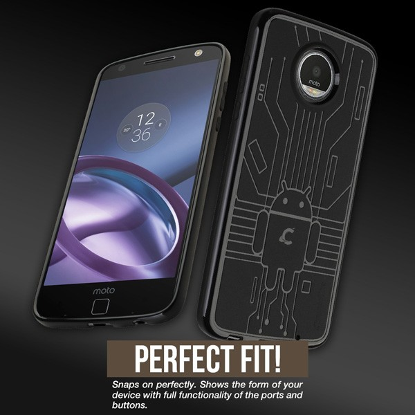 Cruzerlite Bugdroid Circuit Case for Moto Z2 Play