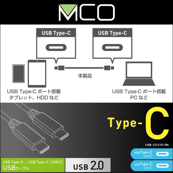 USB2.0ケーブル C-Cコネクタ