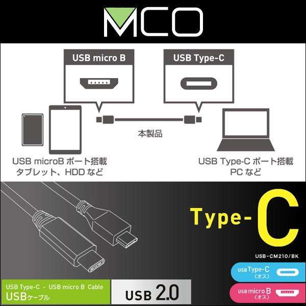 USB2.0ケーブル C-microBコネクタ