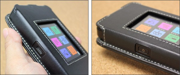 PDAIR レザーケース for Pocket WiFi 603HW / 601HW スリーブタイプ