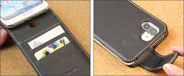 PDAIR レザーケース for AQUOS R2 SH-03K/SHV42 縦開きタイプ