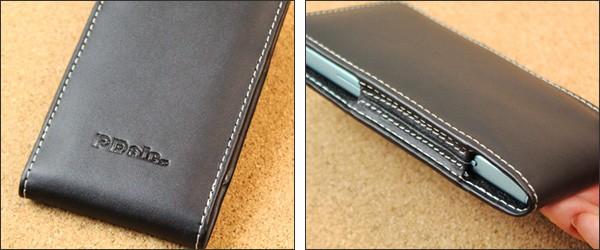 PDAIR レザーケース for Xperia XZ1 Compact SO-02K バーティカルポーチタイプ