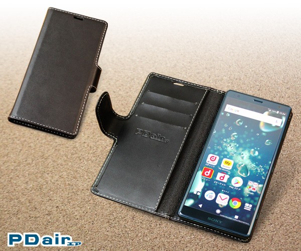 PDAIR レザーケース for Xperia XZ2 SO-03K/SOV37 横開きタイプ