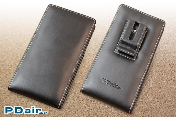 PDAIR レザーケース for Xperia XZ2 SO-03K/SOV37 ベルトクリップ付バーティカルポーチタイプ