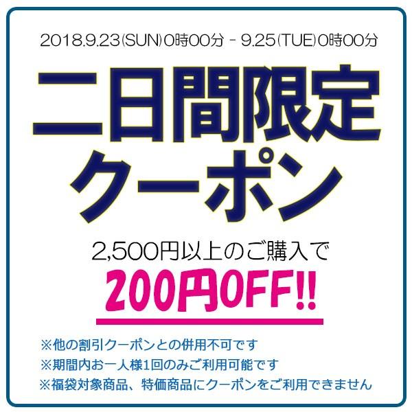 2日間限定!2,500円以上のお買い物に使える200円OFFクーポン