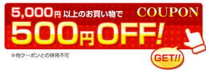 5000円以上で500円OFF
