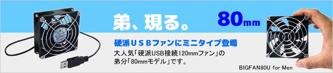 USB8cmファン BIG-FAN 80U for Men