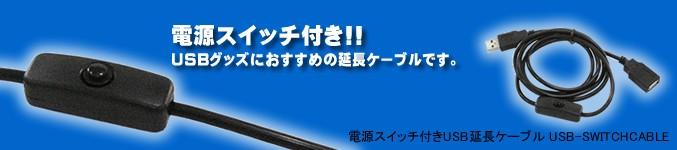 電源スイッチ付きUSB延長ケーブル USB-SWITCHCABLE