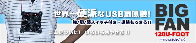 BIGFAN-120U-FOOT(ゴム足付き・強/切/弱スイッチ付き・延長コネクタ付き)