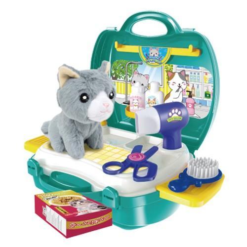 おままごとセット キッチン おもちゃ なりきりごっこあそびセット 男の子 女の子 2歳 3歳 4歳 メイク トリマー 猫 犬 ネコ イヌ クリスマス プレゼント RSL vt-web 13