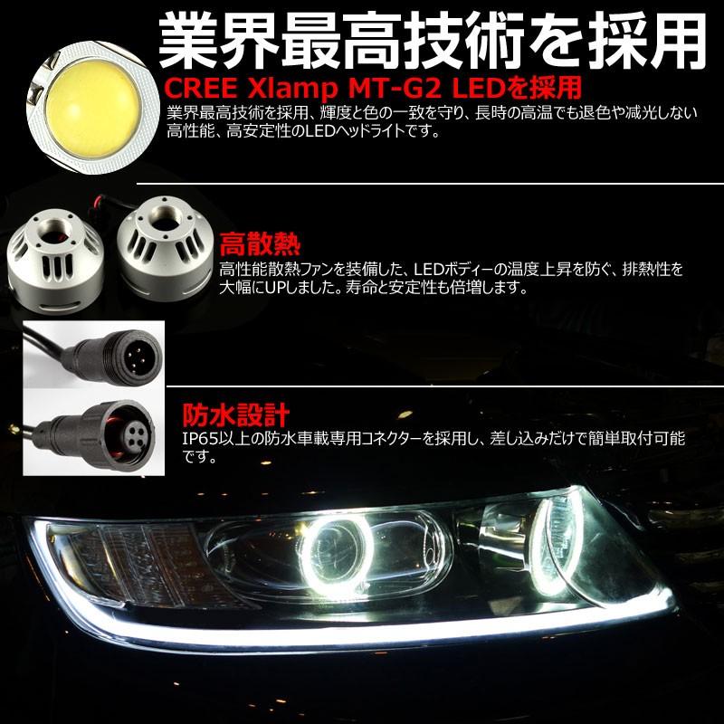 安心1年保証 3200LM LED ヘッドライトキット 6000k H4 Hi/Lo切替 H8 H11 H16 H9 HB4 9006 12v/24v対応 LED ヘッドランプ 冷却用マイクロファン搭載 CREE製 LED XMT-G2チップ搭