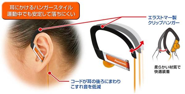 耳にかけるハンガースタイル運動中でも安定して落ちにくい