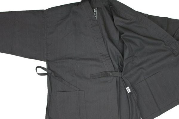 作務衣上着・内紐とポケット