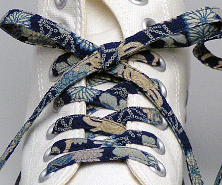 和柄グッズの和の輪ヤフー店 , メール便 和柄靴ひも 柄多数ちりめん靴紐ロング おしゃれなメンズレディーススニーカーくつひも 洗濯可クツヒモ  日本製シュー