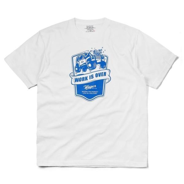WAIPER.inc 1920007 S/S プリント Tシャツ WORK IS OVER ミリタリー メンズ レディース カットソー 半袖 インナー 車 ブランド メーカー【Sx】 waiper 10