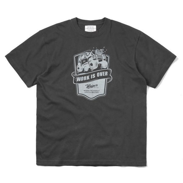 WAIPER.inc 1920007 S/S プリント Tシャツ WORK IS OVER ミリタリー メンズ レディース カットソー 半袖 インナー 車 ブランド メーカー【Sx】 waiper 11