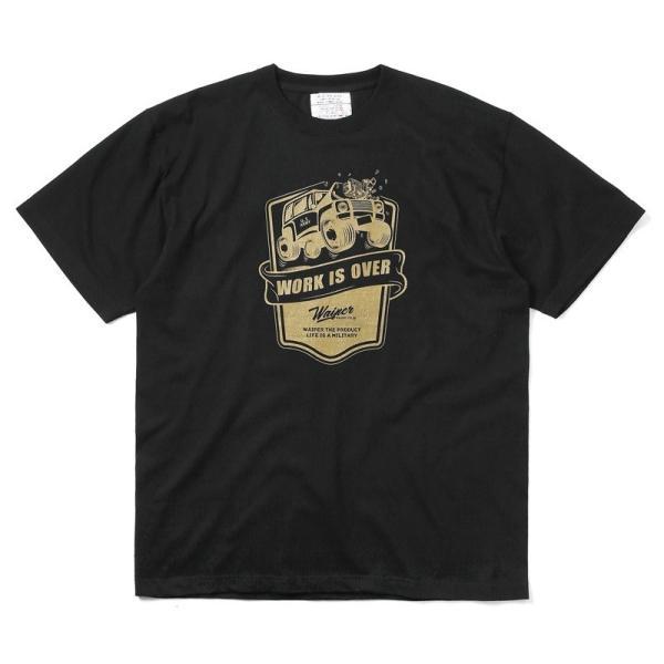 WAIPER.inc 1920007 S/S プリント Tシャツ WORK IS OVER ミリタリー メンズ レディース カットソー 半袖 インナー 車 ブランド メーカー【Sx】 waiper 13