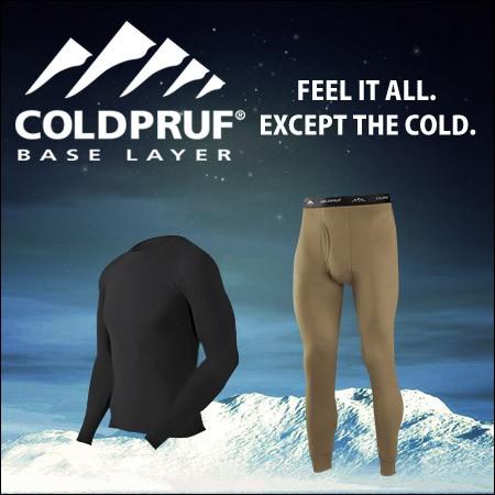 COLDPRUF コールドプラフ 様々な状況において快適さと暖かさを実現するためのベースレイヤー