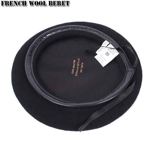 新品 フランス軍ウールベレー帽 ブラック