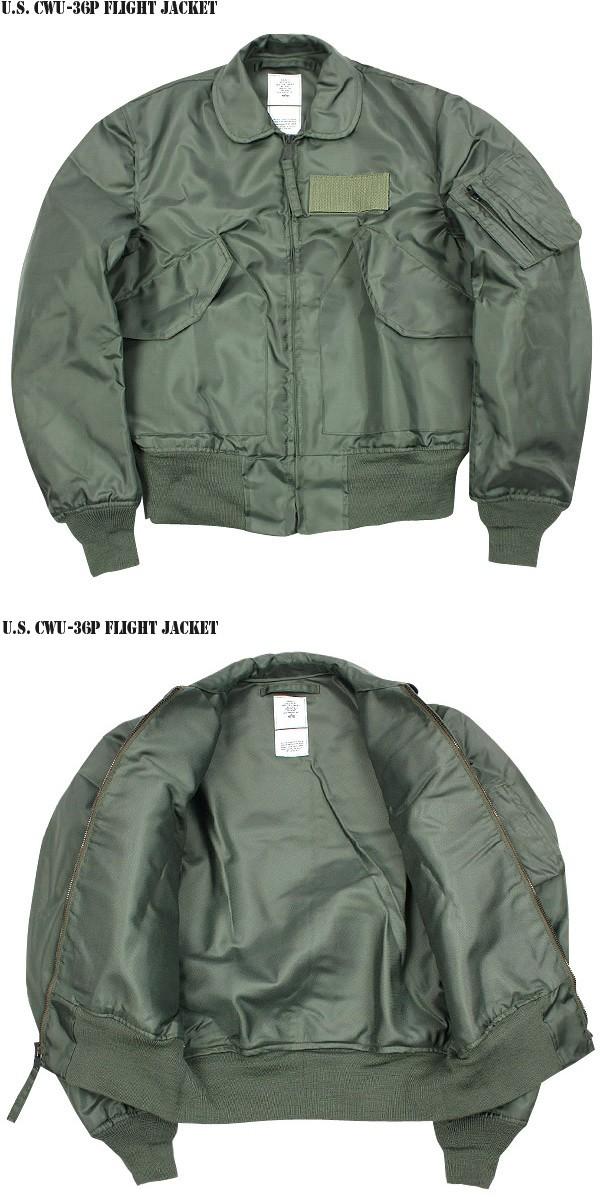実物 新品 米軍CWU-36/P フライトジャケット