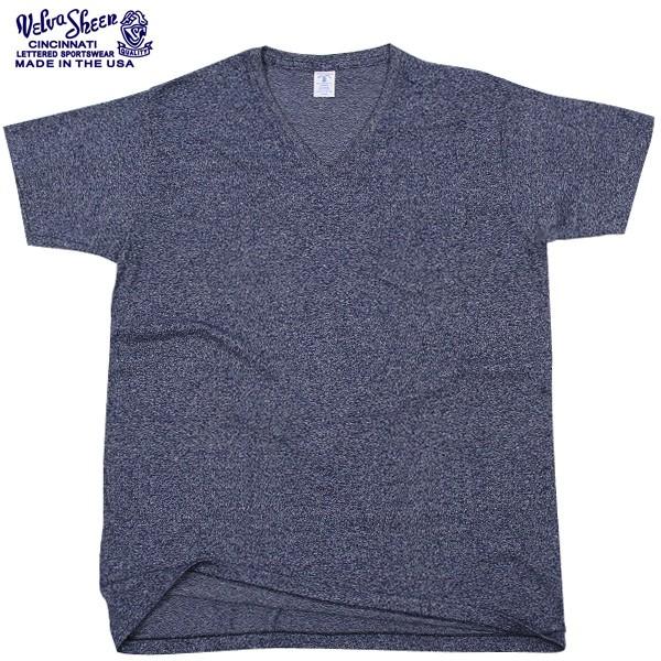 Velva Sheen ベルバシーン 1PAC S/S MOCK TWIST VネックTシャツ BLACK1