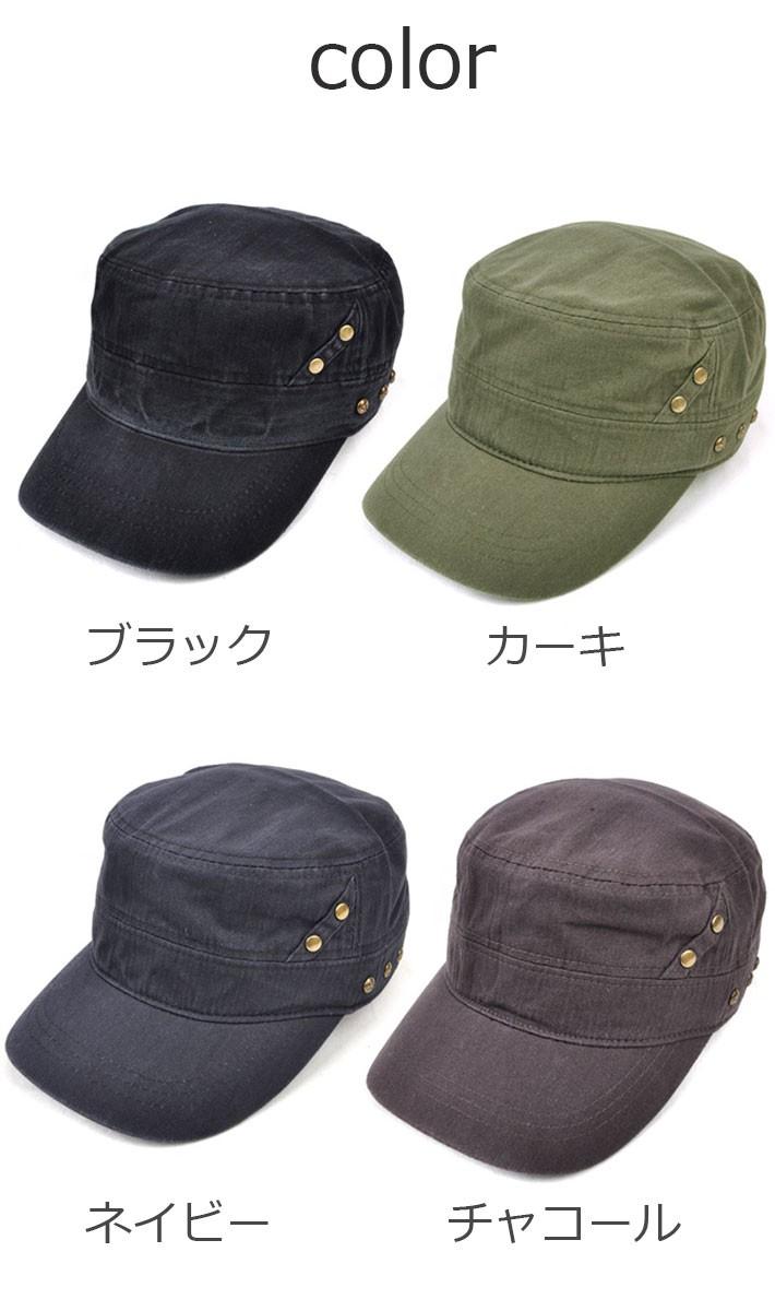 キャップ レディース メンズ 帽子 ワークキャップ ミリタリーキャップ スター スタッズ