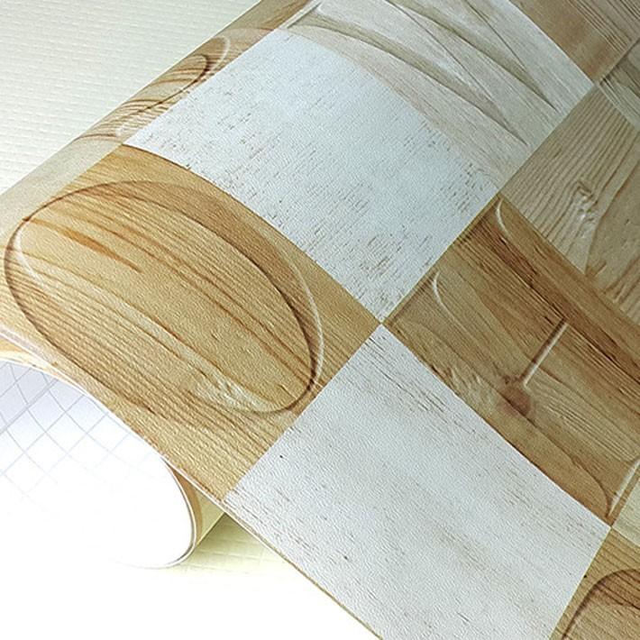 壁紙 はがせる シール のり付き 木目 レンガ クロス 木目調