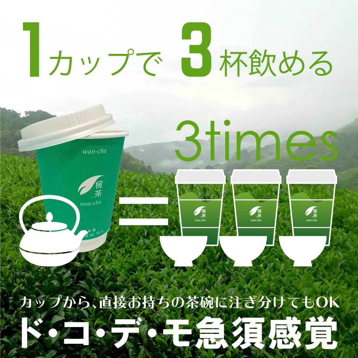 1カップで3杯飲める椀茶
