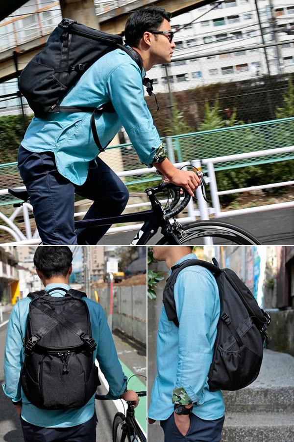 c813021b99ff narifuri TACTICAL BACKPACK. 2007年にブランドをスタートさせたナリフリ。「洋服+自転車=nari/furi」と表現されるように、自転車に乗るときにスタイリッシュかつ機能  ...