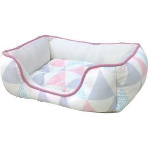 ペットべッド 北欧 夏用 犬ベッド 猫ベッド 犬用ベッド 猫用ベッド 全面接触冷感スクエアベッド 北欧調三角柄 S SB-80 処分販売|wannyan|04