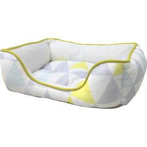 ペットべッド 北欧 夏用 犬ベッド 猫ベッド 犬用ベッド 猫用ベッド 全面接触冷感スクエアベッド 北欧調三角柄 S SB-80 処分販売|wannyan|05