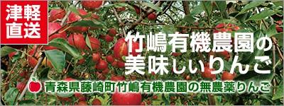 津軽直送 竹嶋有機農園の美味しいりんご