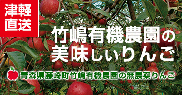 竹嶋有機農園の美味しいりんご