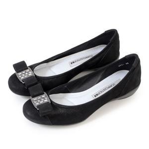 コンポジションナイン COMPOSITION9 靴 2751 コンフォートシューズ レディース パンプス 黒 バレエシューズ リボン エナメル コンポジション9|Parade ワシントン靴店