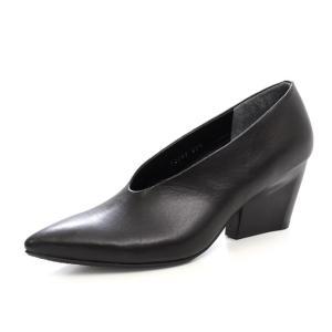 ラボキゴシ ワークス RABOKIGOSHI works パンプス 12299 Vカット 本革 ヒール 太ヒール レディース 靴 セール|Parade ワシントン靴店