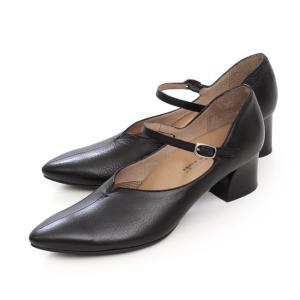 RABOKIGOSHI works ストラップ パンプス ラボキゴシワークス 12288 B ブラック 黒 本革 太ヒール レディース 靴 セール|Parade ワシントン靴店