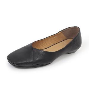 SAYA 靴 サヤ ラボキゴシ 50807 パンプス ローヒール 黒 本革 Vカット スクエアトゥ レディース 日本製 カッターシューズ Parade ワシントン靴店