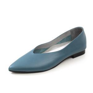 RABOKIGOSHI works パンプス ローヒール ラボキゴシワークス 12455 Vカット フラット ぺたんこ 本革 靴 レディース|Parade ワシントン靴店