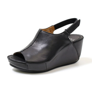SAYA サヤ 靴 サンダル レディース 厚底 ヒール ストラップ 本革 50892 B WHC バックストラップ ベルクロ オープントゥ 日本製 Parade ワシントン靴店