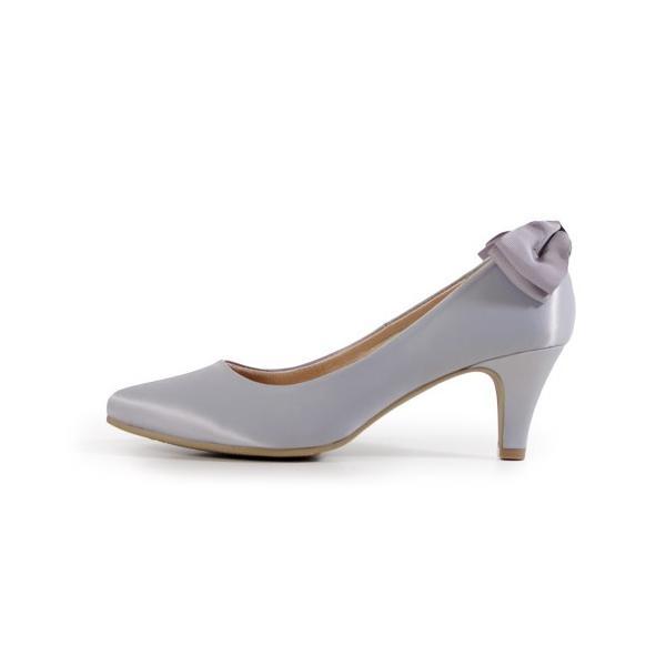 パンプス 結婚式 パーティー 黒 痛くない 歩きやすい バックリボン 6cm 極ふわっ 18161|washington|25