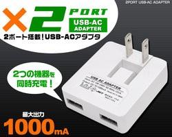 メール便送料無料 ワンコイン以下USB-ACア