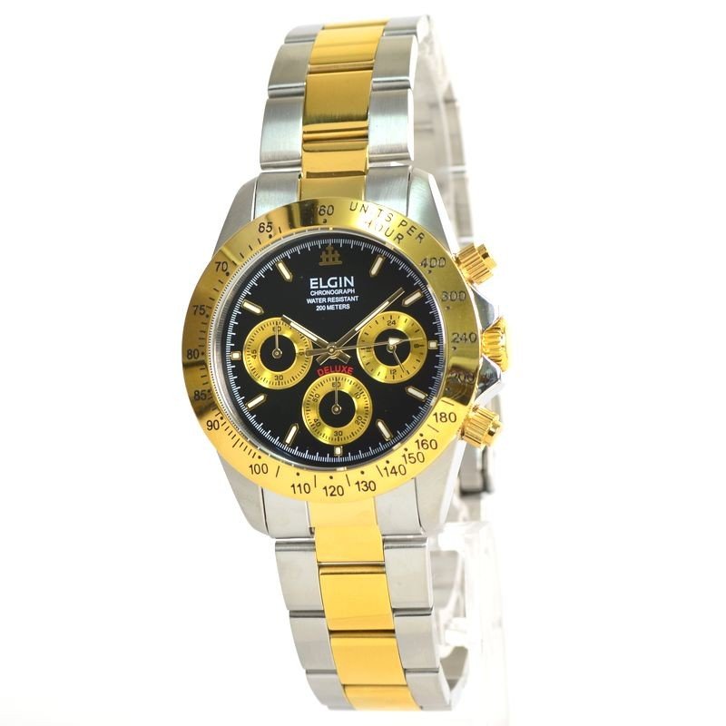 5491eaff6d エルジン ELGIN 腕時計 クロノグラフ メンズ FK1059TG-B