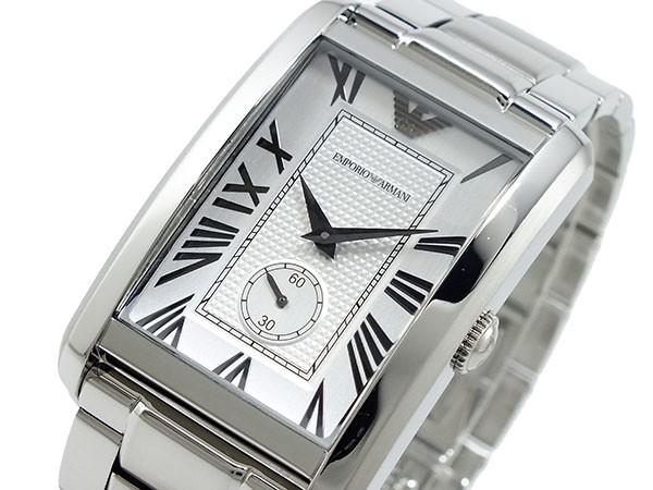 low priced 445e9 31732 エンポリオ アルマーニ EMPORIO ARMANI 腕時計 シルバー AR1607