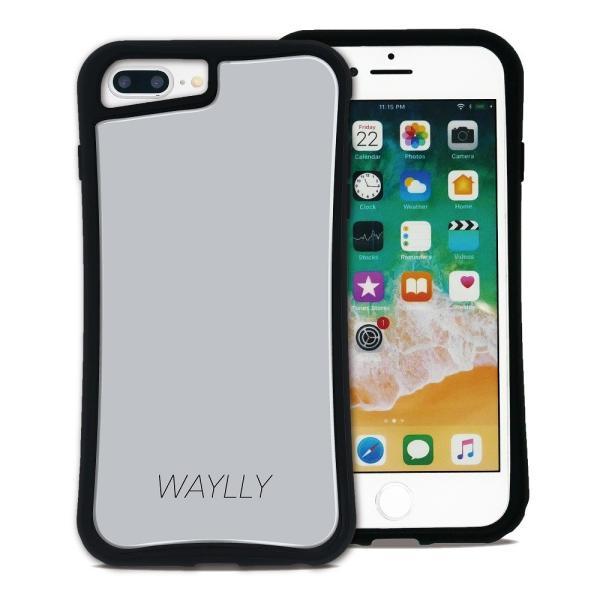 iPhone 7Plus 8Plus 6Plus 6sPlus ケース スマホケース スモールロゴ 耐衝撃 シンプル おしゃれ くっつく ウェイリー WAYLLY _MK_ waylly 19