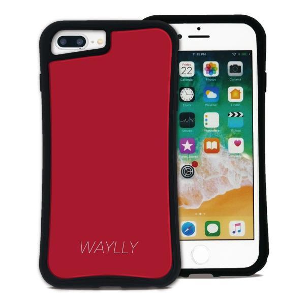 iPhone 7Plus 8Plus 6Plus 6sPlus ケース スマホケース スモールロゴ 耐衝撃 シンプル おしゃれ くっつく ウェイリー WAYLLY _MK_ waylly 21