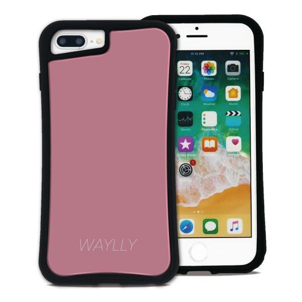 iPhone 7Plus 8Plus 6Plus 6sPlus ケース スマホケース スモールロゴ 耐衝撃 シンプル おしゃれ くっつく ウェイリー WAYLLY _MK_ waylly 22