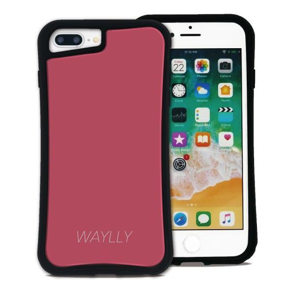 iPhone 7Plus 8Plus 6Plus 6sPlus ケース スマホケース スモールロゴ 耐衝撃 シンプル おしゃれ くっつく ウェイリー WAYLLY _MK_ waylly 23