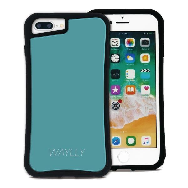 iPhone 7Plus 8Plus 6Plus 6sPlus ケース スマホケース スモールロゴ 耐衝撃 シンプル おしゃれ くっつく ウェイリー WAYLLY _MK_ waylly 24