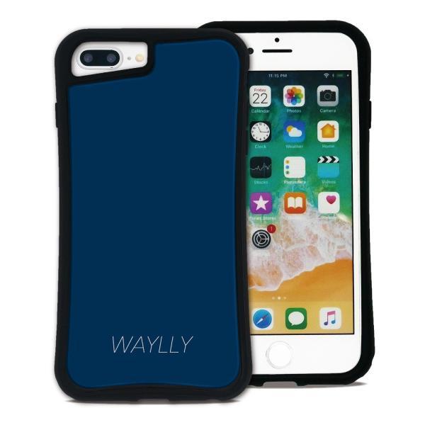 iPhone 7Plus 8Plus 6Plus 6sPlus ケース スマホケース スモールロゴ 耐衝撃 シンプル おしゃれ くっつく ウェイリー WAYLLY _MK_ waylly 25